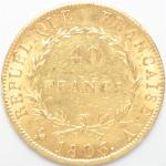 Premier Empire (1804-1814). 40 Francs or 1806 A Paris. 12,90...